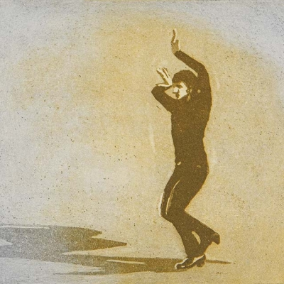 Solotänzer Farbaquatinta (Teil einer Bewegungsabfolge)