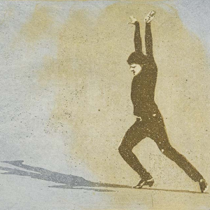 Bildtitel: Solotänzer (3teilige Bewegungssequenz eines Stepptänzers. ) Technik: Farbaquatinta