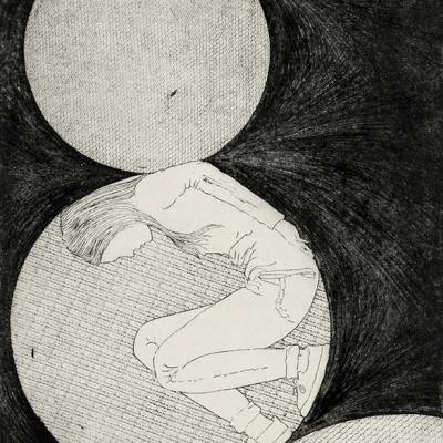 Spielbälle des Lebens  Radierung, Vernie Mou, Aquatinta