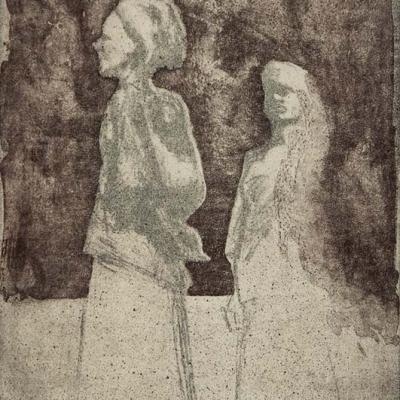 Zwei Frauen mit Turban · Lithografie