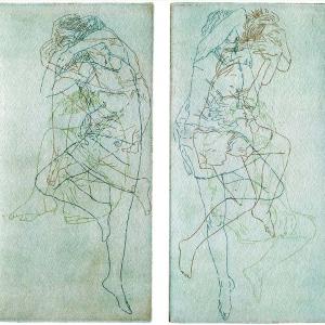 Ruheloser Schlaf einer Frau · Radierung, Aquatinta, Vernie Mou