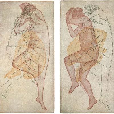Schlafprobleme einer Frau · Radierung, Aquatinta, Vernie Mou